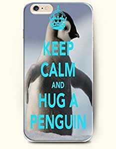 SevenArc Hard Phone Case for Apple iPhone 6 Plus ( iPhone 6 + )( 5.5 inches) - Keep Calm And Hug A Penguin - Life...