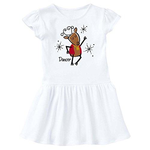 inktastic - Dancer Reindeer Infant Dress 12 Months White 278a7 ()