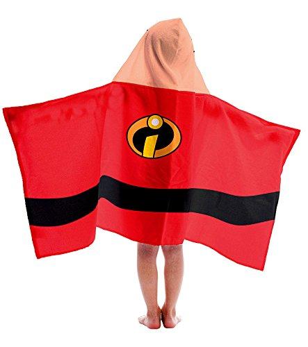 Disney Pixar The Incredibles Jack-Jack Cotton Hooded Bath/Pool/Beach Towel