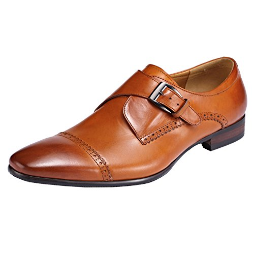 ROYAL WIND Herren Cason Carrigan Leder Box Glatt Slip-On Loafer Braun