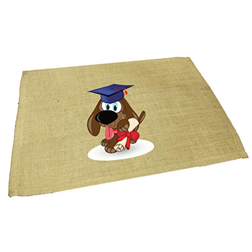 Dog Graduating Jute Burlap Placemat Table Mat Natural One Size