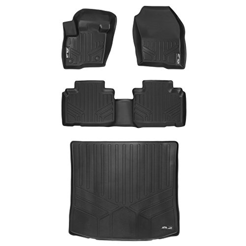 (MAX LINER A0192/B0192/D0192 Custom Fit Floor Mats 2 Rows and Cargo Liner Set Black for 2015-2019 Ford)