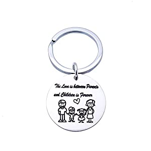 New Parents Gift For Daddy Keychain For Men