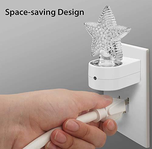 Star Plug-in LED Night Light – Dusk to Dawn Sensor & Manual Switch, Adjustable Brightness, Décor, Gift, Cute Nightlight for Bathroom, Kids, Nursery