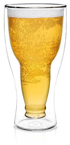 Dragon Glassware Beer Glass | 13.5 oz Double Wall Upside Down Pilsner Glasses for Beer | Insulated Design Keeps Beer Cold | Ultimate Gift for Beer Lovers | Dish Washer & Freezer Safe | Gift Boxed