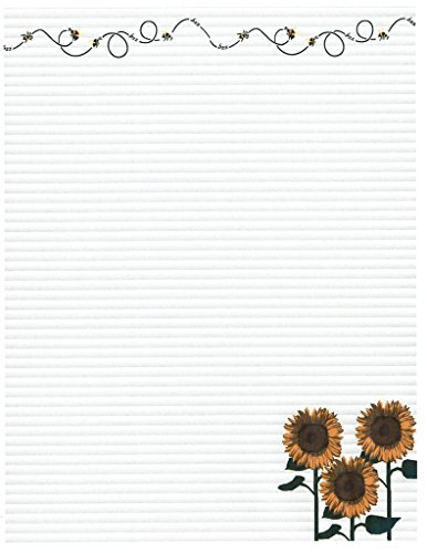 Buzzing Bees & Sunflowers Stationery Printer Paper 26 Sheets]()