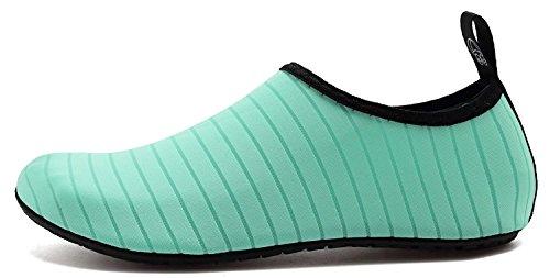 Womens Barefoot ANLUKE Water Swim Green Mens Socks Summer Solid for Shoes Beach Yoga Aqua R1q1Ax