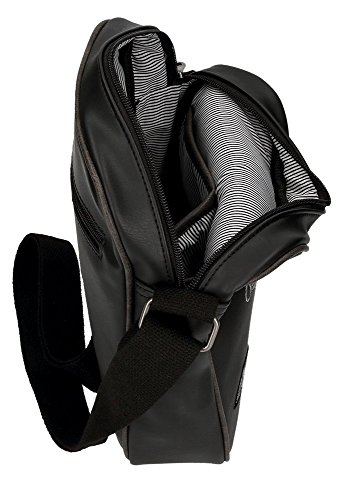 Pepe Jeans Duetone Bolso Bandolera, 25 cm, 3.25 Litros, Negro