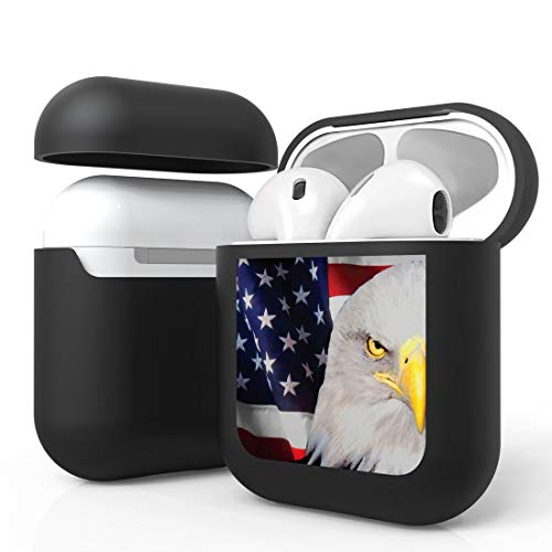 Bemz [Slim Lightweight] Protective Case Cover for Apple AirPods (Gen 1, 2) - USA Patriot Eagle from Bemz Depot