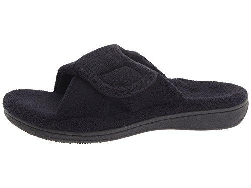 Pantofola Vionic Orthaheel Relax Donna, Nero Terry, Misura: 11
