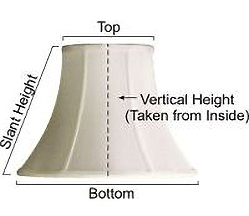 Upgradelights Bronze 10 Inch Square Bell Washer Lampshade Replacement 5x10x9 by Upgradelights
