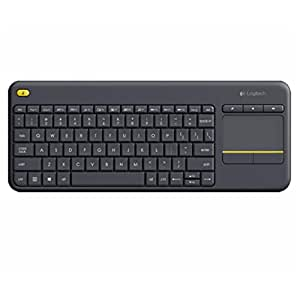 Logitech K400 920-007119 Plus Wireless Touch Keyboard with Keyboard for TV Connected Computer