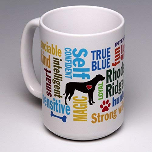 15 oz. Personalize this Rhodesian Ridgeback Coffee/Tea Mug ~ perfect for a dog or pet lover ~ can be customized (Rhodesian Ridgeback Kennel)
