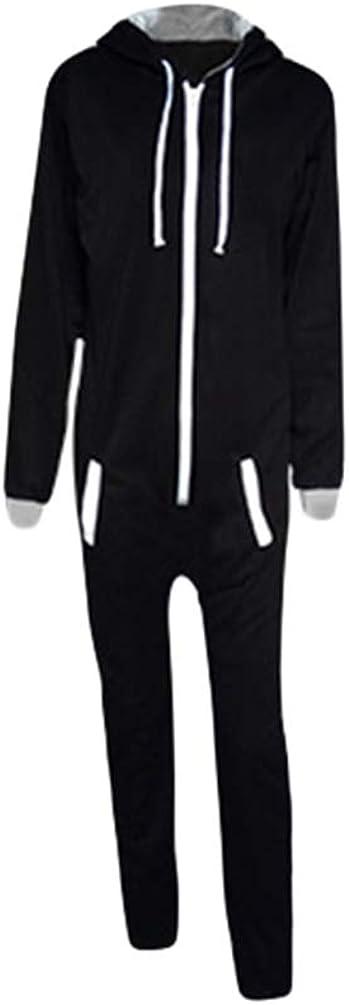 NiSengs Pijama de Una Pieza Mono Onesie Jumpsuit con Capucha para Hombre o Mujer Unisexo Pijamas Onepiece