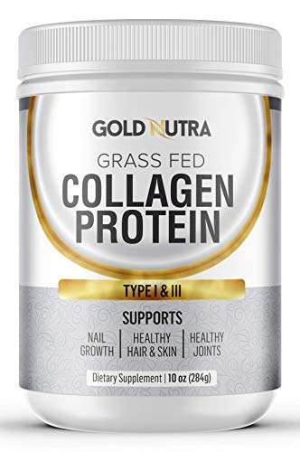 - Collagen Protein (10oz) | Grass Fed, Type I & III | for Healthy Hair, Nails, Skin & Joints | Non-GMO, Antibiotic Free & Hormone Free by (Unflavored) Gold Nutra