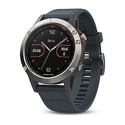 Garmin fēnix 5, Premium and Rugged Multisport GPS Smartwatch, Granite Blue, Refurbished
