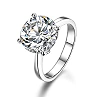 Silver Masters Women's Fine Statement Rings 925 Sterling Silver Rings Highest Quality CZ Cubic Zirconia