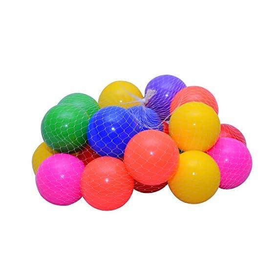 Kidsbay Premium Pool/Pit/Ocean Balls Without Sharp Edges, 6 cm Diameter (Multicolour) (50 Medium Balls)
