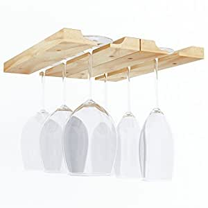 Amazon.com: Hanging Under Cabinet Stemware Wine Glass ...