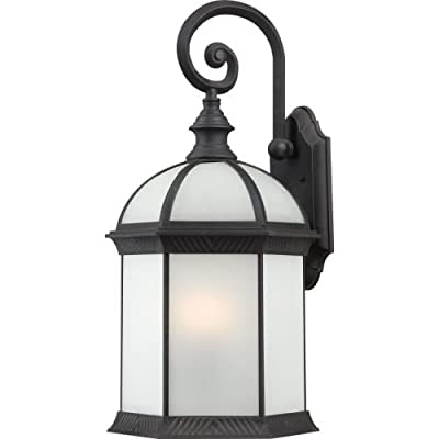 Nuvo Lighting Boxwood Large Wall Lantern/Arm Down with Clear Beveled Glass