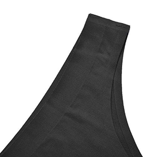 zolimx Pantalones Invisible suave algodón Spandex transparente Slim de la mujer negro