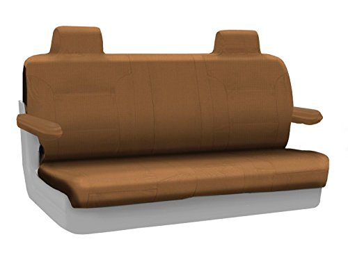 Coverking Custom Fit Rear Solid Bench Seat Cover for Select Lincoln Town Car Models - Polycotton Drill (Tan) ()