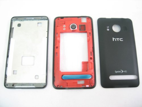 sprint-htc-evo-4g-black-housing-cover-door-case-frame-fascia-plate-mobile-phone-repair-parts-replace