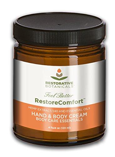Restore Comfort Hemp Oil 240 mg Extract Fast Acting Warming Relief Cream 120ml Restorative Botanicals