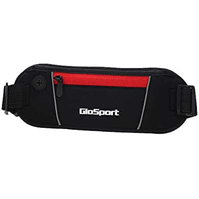 GioSport Running Belt, Waist Pack, Best Sports Belt/Pouch for Runners, Running Bag, Fanny Pack, Travel Money Belt, Compact for Carrying All Your Necessities, Lifetime Guarantee