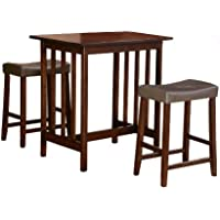 Homelegance Scottsdale 3-Piece Counter Table and Stools, Cherry