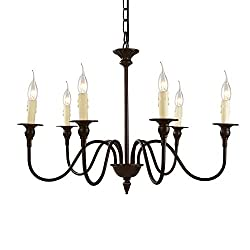 "LNC A02995 25.6"" Chandelier, 6-Light, Oil Rub"