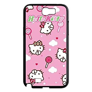 Samsung Galaxy N2 7100 Cell Phone Case Black Hello Kitty Lollipop Pattern SP4285562