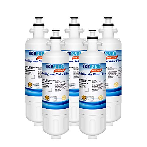 ICEPURE LT700P Replacement for Refrigerator Water Filter, Compatible LG LT700P, ADQ36006101, ADQ36006102, KENMORE 469690, 9690, RWF1200A,5 PACK