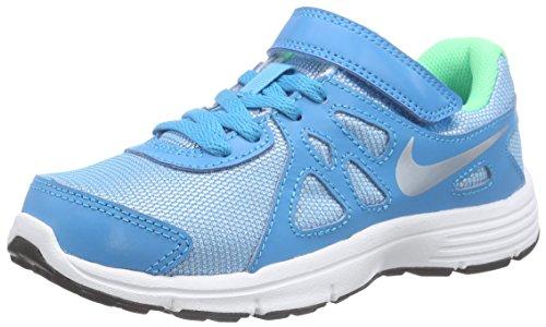 Nike Kids Revolution 2 PSV Running Shoe-BlueLagoon/MetallicSilver-3 (Boys Nike Flex Shoes)