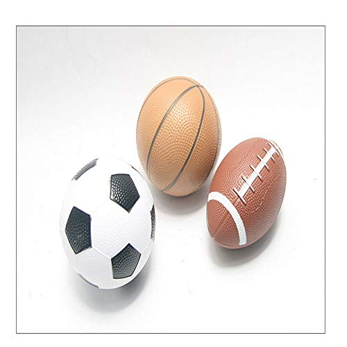 SELIFY Soft PU Sports Balls for Kids Sports Party Favor Toys (Baseball, Basketball and Soccer Ball)