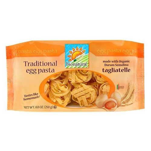 Bionaturae Organic Tagliatelle Egg Pasta -- 8.8 oz