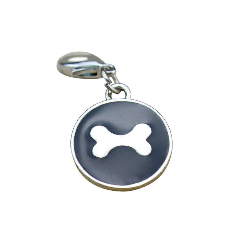 wanshenGyi Dog Tag, Fashion Pet Jewelry Gift Bone Shape Cat Dog Puppy ID Tag Collar Pendant Decor - Black, Office, Home, Travel, School, All Code.