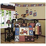 GEENNY Boutique Crib Bedding Set, Horse Western Cowboy, 13 Piece
