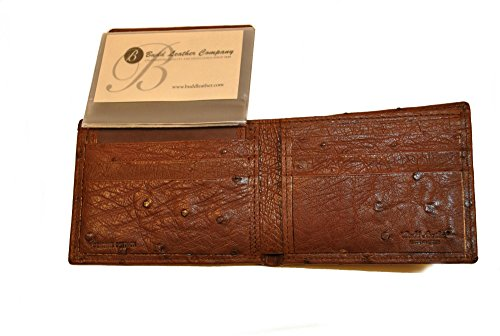 Wallet Ostrich Passcase Black Budd Leather Genuine Budd Leather Ix1wgwq7Y