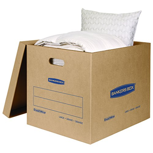 Bankers Box SmoothMove Classic Moving Boxes, Large, 10-Pack, No Tape Required (7718202) Photo #2