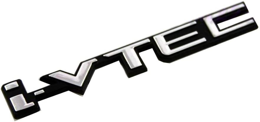 I-Vtec Ivtec 11.5 Centimeter Chrome Black Badge Emblem Logo Fender Chromed 3D Car Swap Trunk Hood Side Auto Adhesive Replacement Decal Sticker Truck Van Sports Abs Plastic Name Plate 1 Piece TOTUMY