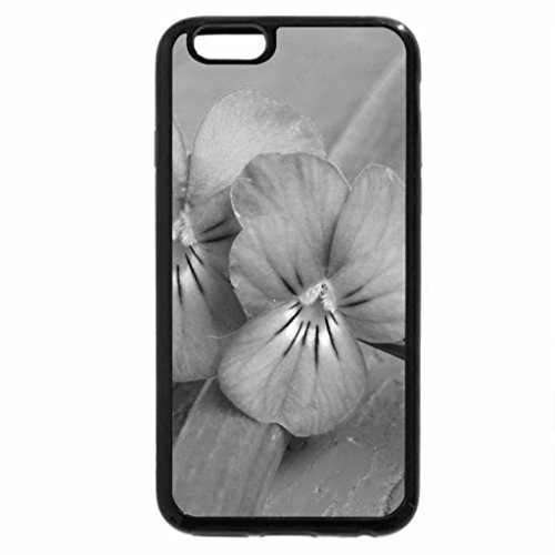 iPhone 6S Case, iPhone 6 Case (Black & White) - LAVENDER AND TURQUOISE
