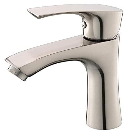 Excellent Kingo Home Commercial Stainless Steel Lavatory Single Handle Single Hole Brushed Nickel Bathroom Faucets Hot And Cold Water Vanity Sink Faucet Home Interior And Landscaping Mentranervesignezvosmurscom