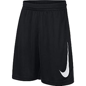 NIKE Boys' Dry HBR Athletic Shorts, Black/Anthracite/Black/White, Large