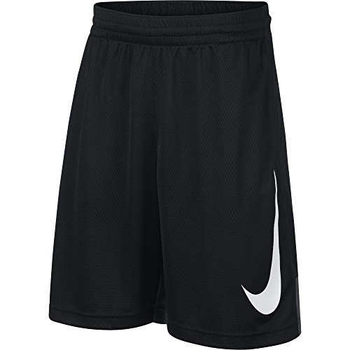 (NIKE Boys' Dry HBR Athletic Shorts, Black/Anthracite/Black/White, Small)