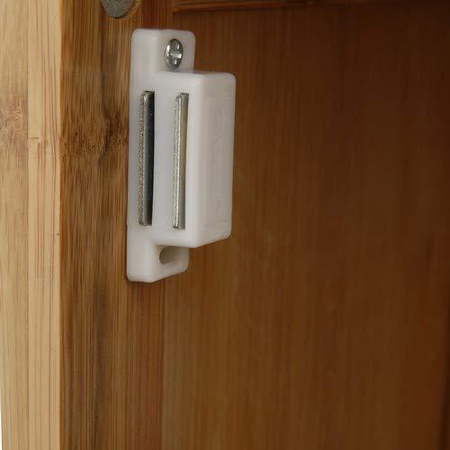 foro per sifone ripiano regolabile LIMAL Mobiletto da bagno in bamb/ù marrone 30/x 40/x 60/cm