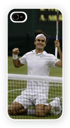 Roger Federer Tennis Fist, iPhone 4 4S, Etui de téléphone mobile - encre brillant impression
