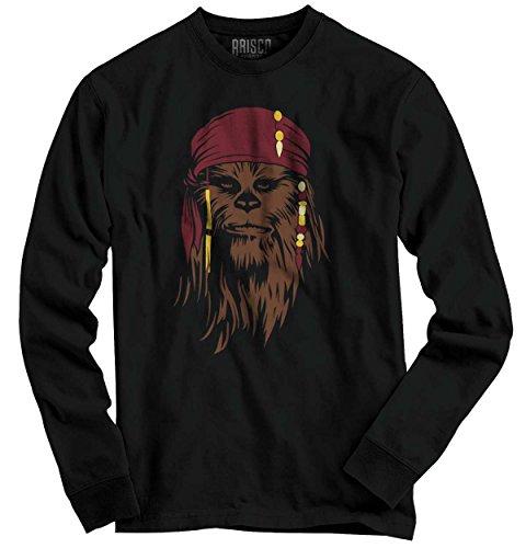 Chewbacca Star Wars Shirt Pirate Caribbean Jack Sparrow Cool Long Sleeve Tee - Caribbean Long Sleeve Shirt