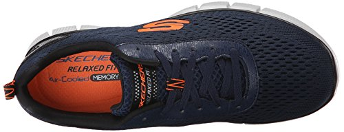 Skechers Sport Herren Equalizer 2.0 True Balance Sneaker Mesh Navy / Orange