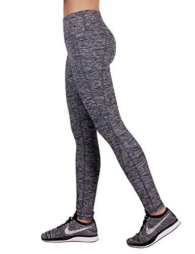 ODODOS Power Reflex Yoga Pants Tummy Control Workout Running Non See-through Fabric Yoga Pants With Hidden Pocket,NavyHearher,XX-Large